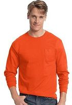 Hanes Men's TAGLESS Long-Sleeve T-Shirt with Pocket Men's Shirts
