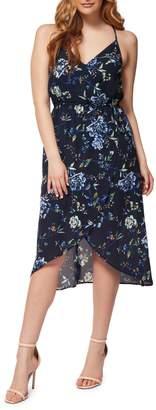 Dex Floral High-Low Wrap Dress
