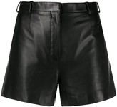 Lanvin tailored leather shorts