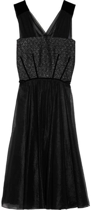 Vanessa Bruno Serena metallic tweed and silk-tulle dress