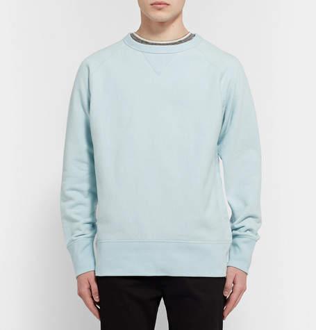 Rag & Bone Racer Loopback Stretch-Cotton Jersey Sweatshirt
