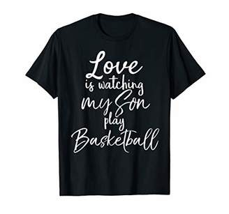 Love is Watching my Son Play Basketball Shirt Parent Tee