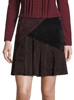 Nanette Lepore Sultry Suede Colorblock Skirt