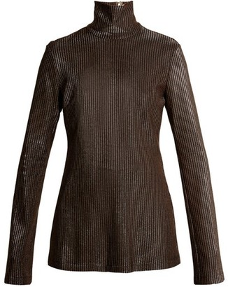 Ellery Gospel Striped Knit Sweater - Womens - Metallic