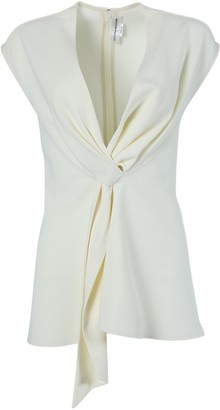 Victoria Beckham Tie Drape Tux Top