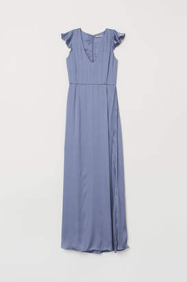 H&M Long V-neck dress
