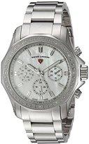 Swiss Legend Women's 'Islander' Quartz Stainless Steel Casual Watch, Color:Silver-Toned (Model: 16201SM-22)