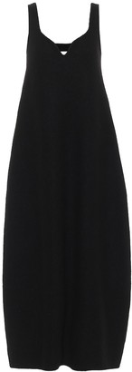 Jil Sander Cotton and wool midi dress