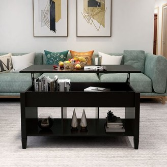 Red Barrel Studio Arrianna Lift Top Coffee Table with Storage