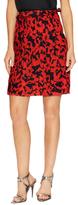 Jil Sander Navy Print And Pleat A line Skirt