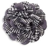 hook + ALBERT Houndstooth Lapel Flower