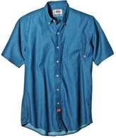 Dickies Men's Short-Sleeve Work Shirt, Stone Washed