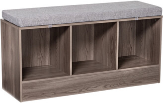 Honey-Can-Do Grey Storage Bench