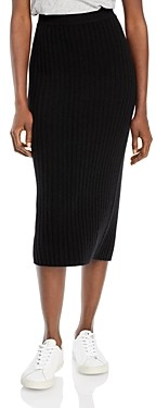 C by Bloomingdale's Ribbed Cashmere Midi Skirt - 100% Exclusive