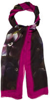 Valentino Silk Floral Print Scarf