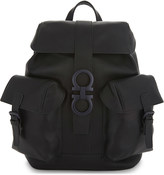 Salvatore Ferragamo Gancio Trott leather backpack