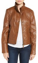 Jessica Simpson Women's Quilted Faux Leather Jacket