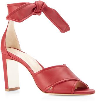 Marion Parke Leah Metallic Leather Ankle-Tie Sandals