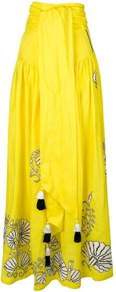 Yuliya Magdych Tassel Maxi Skirt