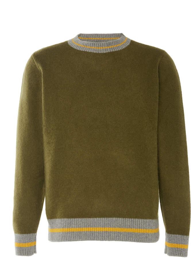 The Elder Statesman Simple Rib-Trimmed Cashmere Sweater