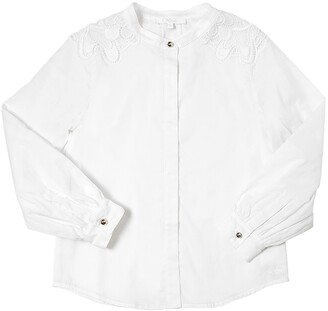 Chloé Doubled Cotton Satin Shirt
