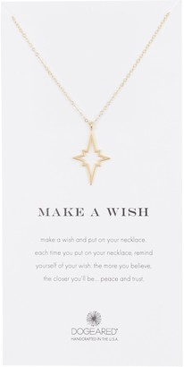 Dogeared Make A Wish Large North Star Pendant Necklace