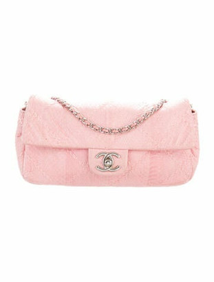 Chanel Ultimate Stitch Python Flap Bag Pink