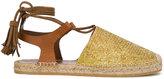 Etro woven espadrille sandals - women - Leather/Foam Rubber - 41