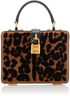 Dolce & Gabbana Leopard-Print Leather Box Bag