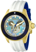 Invicta White & Gold Disney Mickey Mouse Dial Watch