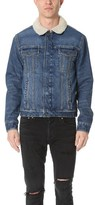 Current/Elliott Shearling Lined Denim Jacket