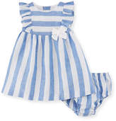 Mayoral Wide-Stripe Dress w/ Matching Bloomers, Size 2-12 Months