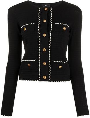 Elisabetta Franchi Chanel scalloped hem cardigan