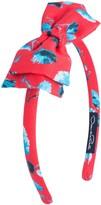 Oscar de la Renta Degrade Poppies Mikado Bow Headband