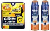 Gillette Fusion ProShield Bundle (8 refills + 2 shave gels)