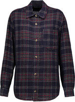 Isabel Marant Kenzie checked wool-blend shirt
