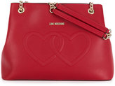 Love Moschino heart detail tote bag