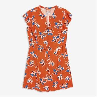 Joe Fresh Women+ Ruffle Shoulder Dress, Dark Orange (Size 2X)