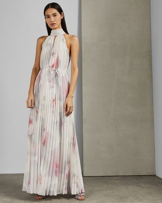 Ted Baker Cotton Candy Pleated Maxi Dress