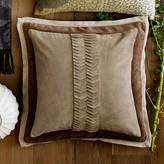 Williams-Sonoma Williams Sonoma Suede Origami Cut Pillow Cover, Beige