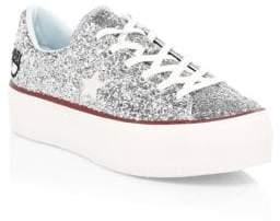 Converse Women's Chiara Ferragni One Star Platform Sneakers - Silver - Size 8