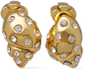 Kate Spade Under The Sea Gold-tone Crystal Earrings
