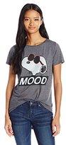 Peanuts Disney Junior's Snoopy Mood High Low Drapey Graphic T-Shirt