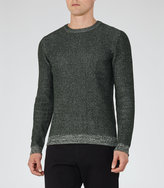 Reiss Reiss Tiger - Flecked Jumper In Green