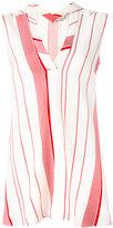 Stella McCartney striped V-neck top - women - Silk - 38