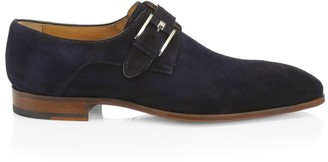 Saks Fifth Avenue COLLECTION BY MAGNANNI Suede Monk Strap Shoes
