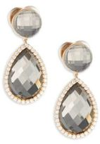 Roberto Coin Diamond, Quartz & 18K Rose Gold Drop Earrings