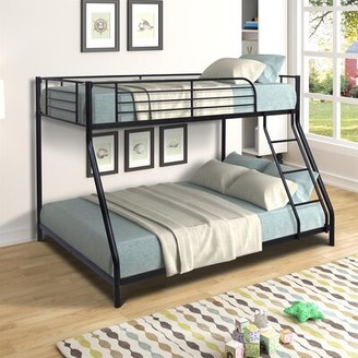 Isabelle & MaxTM Angulo Twin Over Full Bunk Bed Isabelle & Max Bed Frame Color: Black