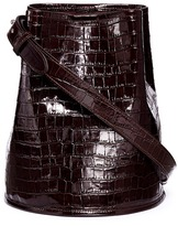 Creatures of Comfort Small croc embossed leather bucket bag