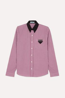 Prada Gingham Cotton-poplin Shirt - Red